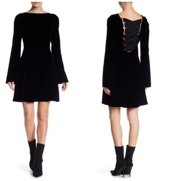 Derek Lam Dresses & Skirts - Derek Lam 10 Crosby Black Lace Up Velvet Dress